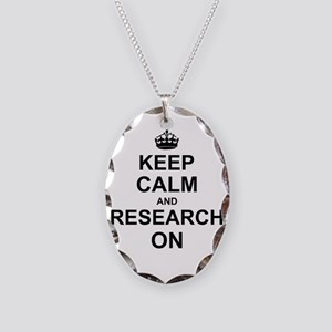Keep Calm and Research on Necklace Oval Charm